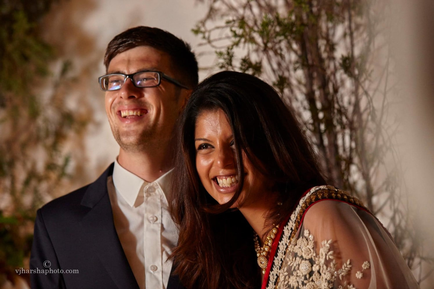 Candid Smiles of the Happy Couple by Vjharsha Photography Wedding-photography | Weddings Photos & Ideas