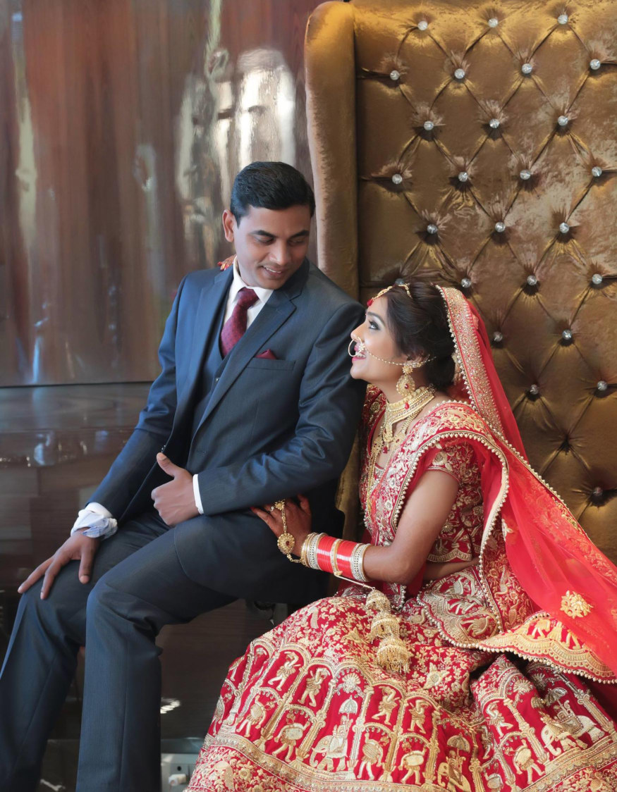 Couple On Their Wedding day by Mukesh bijalwan  Wedding-photography Groom-wear-and-accessories Bridal-jewellery-and-accessories Wedding-dresses | Weddings Photos & Ideas