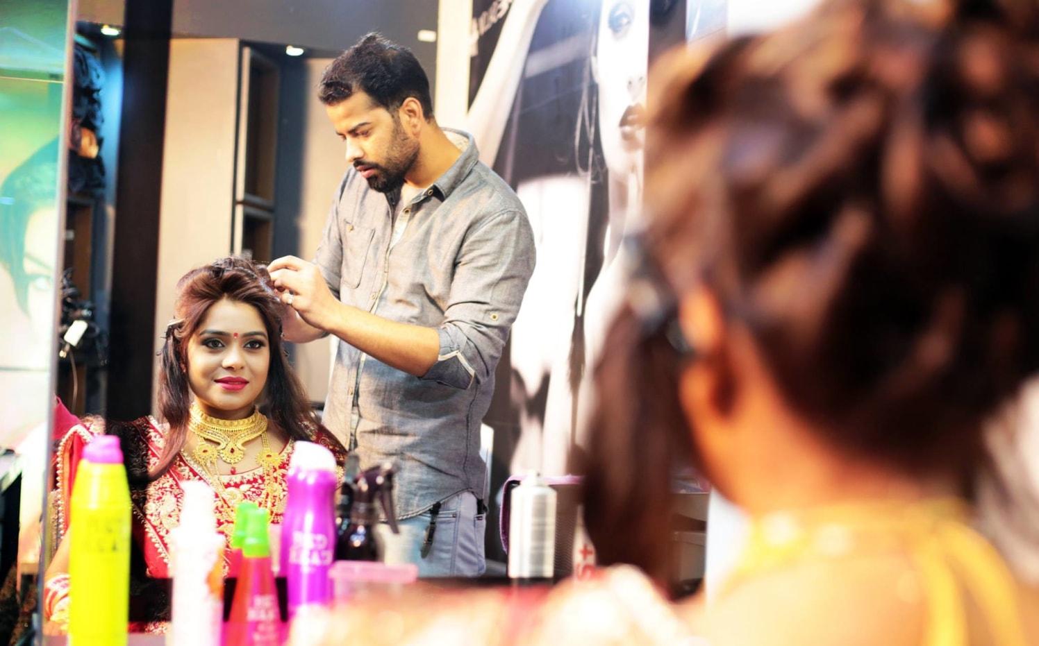 Prepping Up Beautifully by Mukesh bijalwan  Wedding-photography Bridal-makeup | Weddings Photos & Ideas