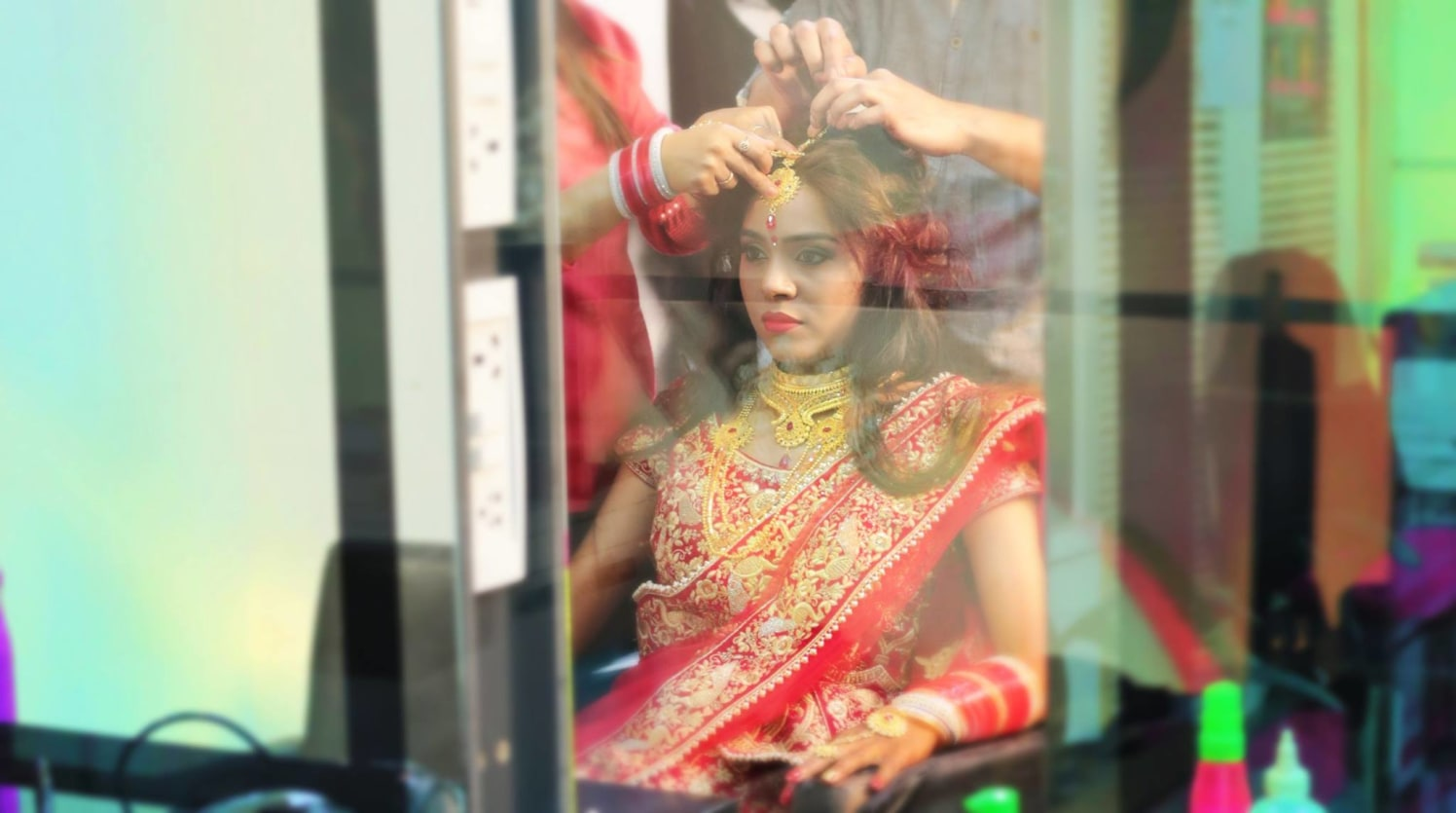 Beautiful Glimpse Of The Bride by Mukesh bijalwan  Wedding-photography Bridal-jewellery-and-accessories Bridal-makeup | Weddings Photos & Ideas