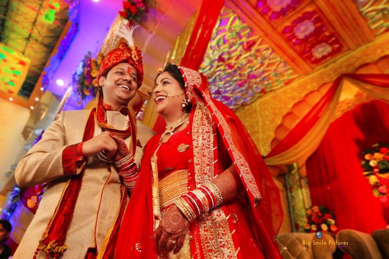 Happy Couple Portrait On Wedding Day by Mukesh bijalwan  Wedding-photography Groom-wear-and-accessories | Weddings Photos & Ideas
