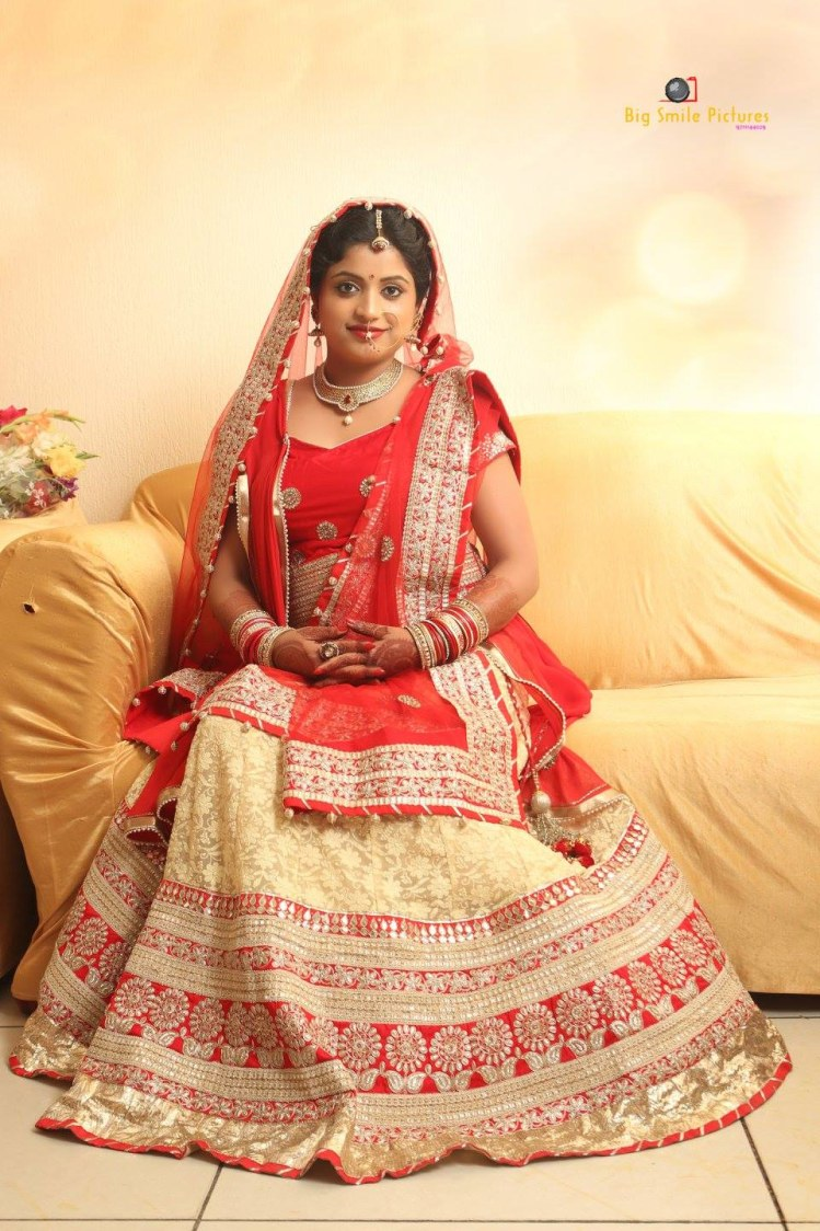 Bride Wearing Beautiful Lehenga With Gold Work by Mukesh bijalwan  Wedding-photography Wedding-dresses   Weddings Photos & Ideas