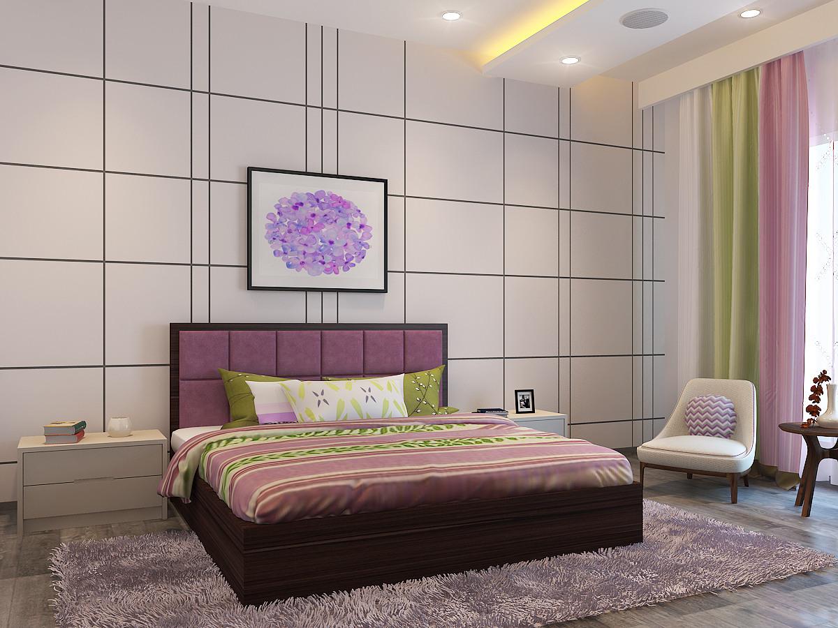 Retro Bedroom by Antarika designs Modern | Interior Design Photos & Ideas