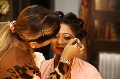 Get Ready Shot by Sonam Jayna Bridal-makeup | Weddings Photos & Ideas