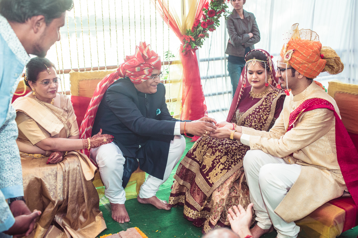 Conferring blessings by Manas Saran Photography Wedding-photography | Weddings Photos & Ideas