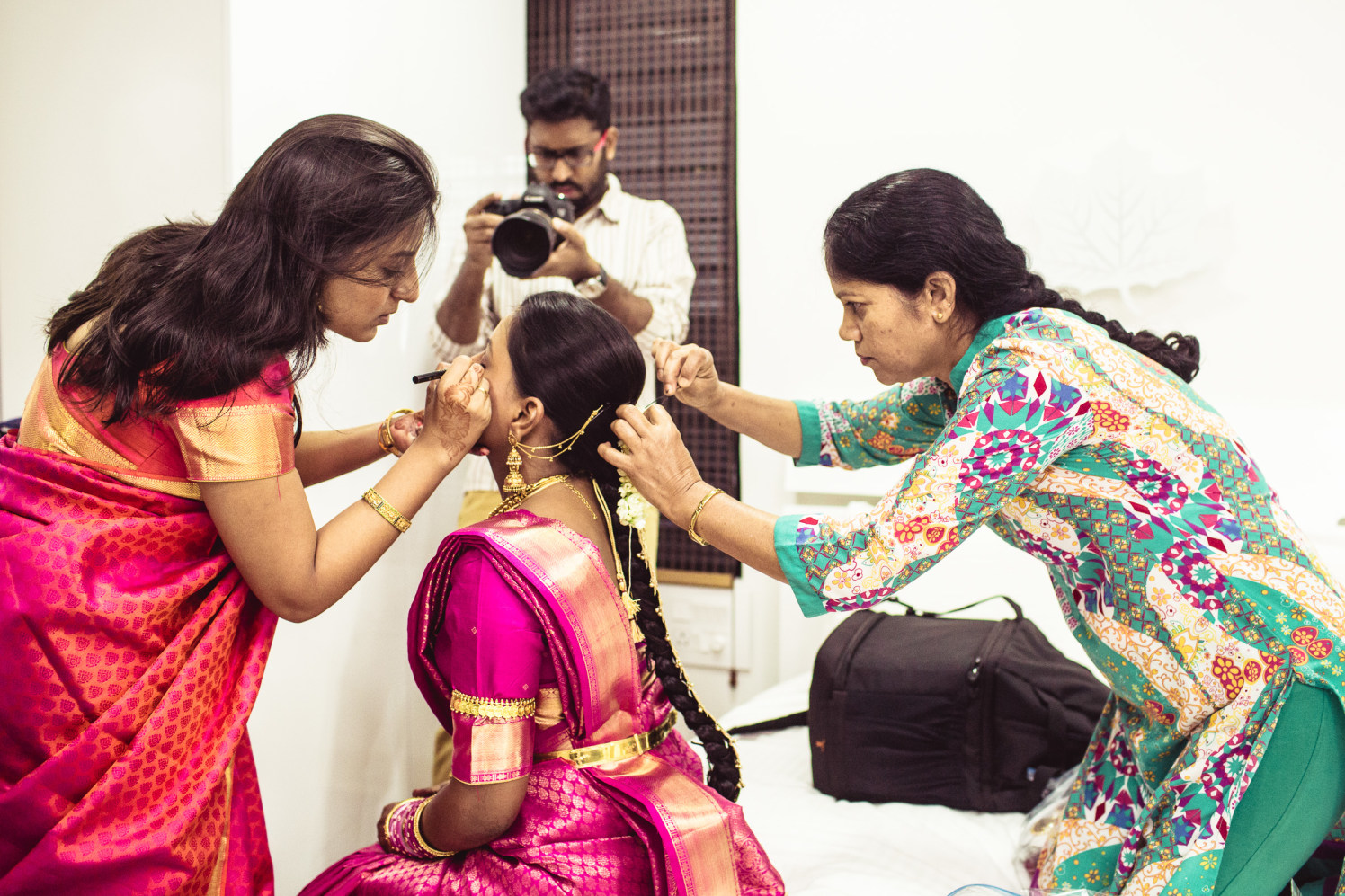 Getting her makeup righ! by Manas Saran Photography Wedding-photography | Weddings Photos & Ideas
