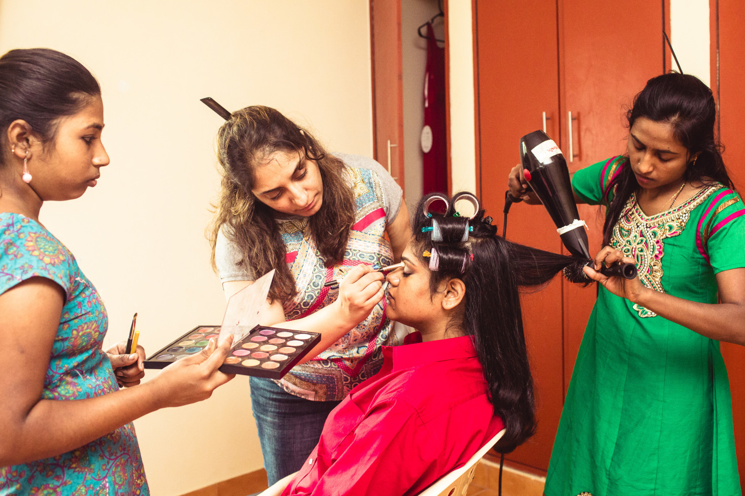 The bride is getting ready! by Manas Saran Photography Wedding-photography | Weddings Photos & Ideas