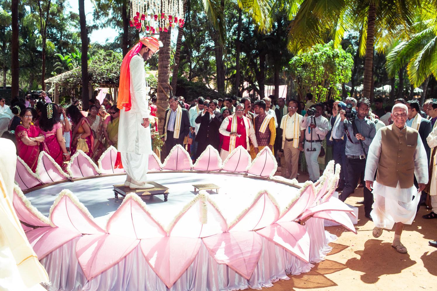 The groom awaits her bride! by Manas Saran Photography Wedding-photography   Weddings Photos & Ideas