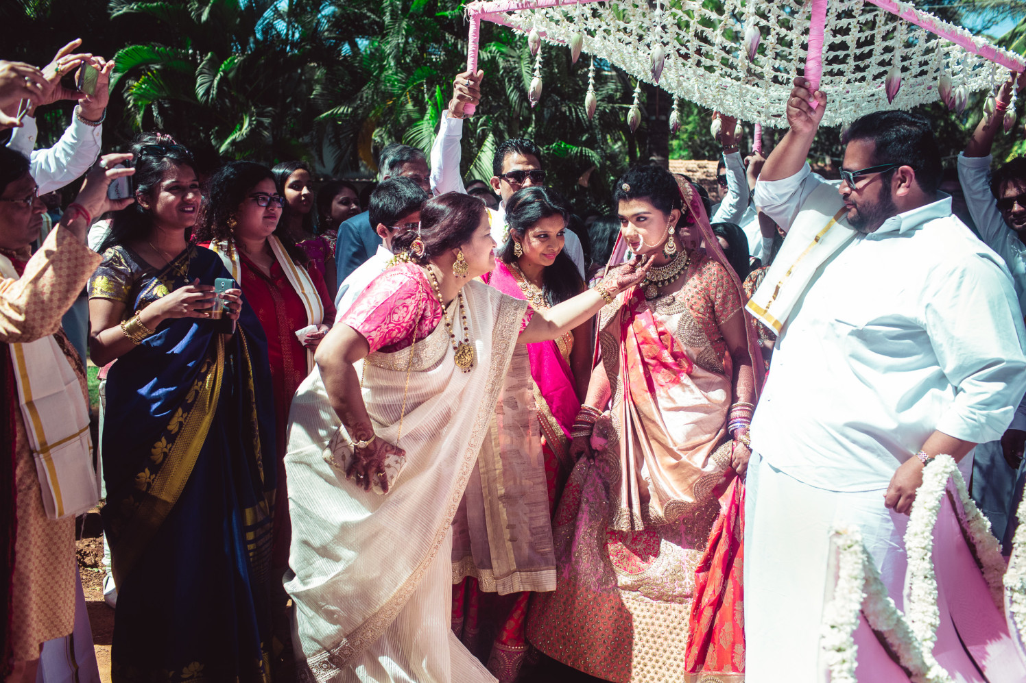 All drenched in pink! by Manas Saran Photography Wedding-photography | Weddings Photos & Ideas
