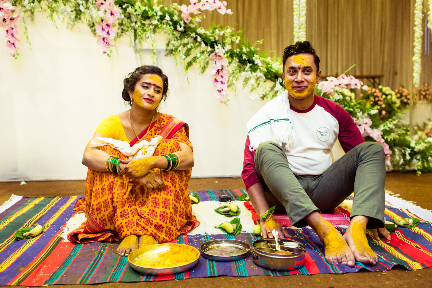 Drenched in haldi! by Manas Saran Photography Wedding-photography | Weddings Photos & Ideas