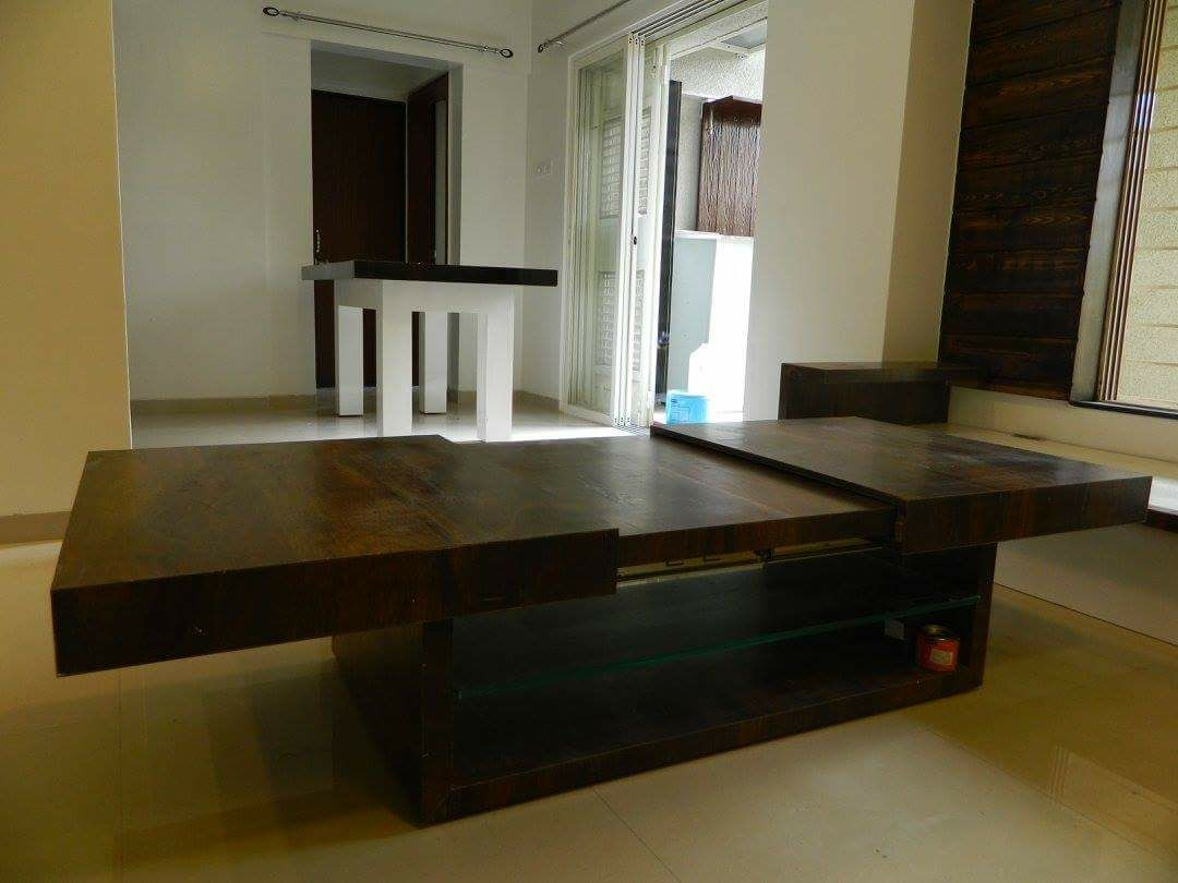 Wooden Centre Table by Intrusa Interiors  Living-room Eclectic | Interior Design Photos & Ideas