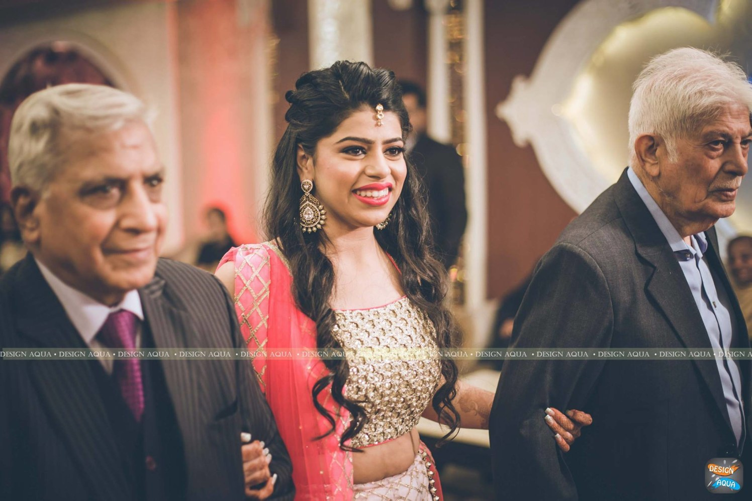 Half Up Half Down Open Curls Worn By the Bride by Priyanka Kamboj Wedding-photography Wedding-hairstyles | Weddings Photos & Ideas
