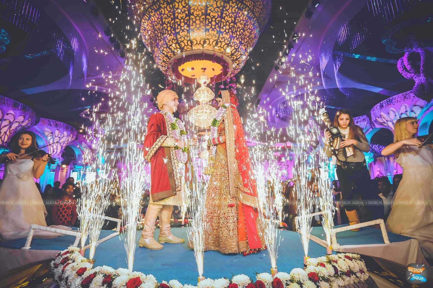 The Grand Celebrations of the Jaimala Ceremony by Priyanka Kamboj Wedding-photography | Weddings Photos & Ideas