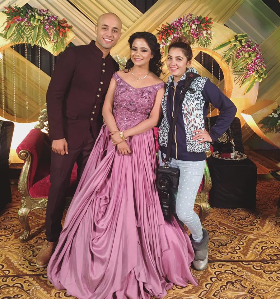 Beautiful Mauve Ruffled Gown Perfect For the Engagement Day by Priyanka Kamboj Wedding-photography Groom-wear-and-accessories Wedding-dresses | Weddings Photos & Ideas