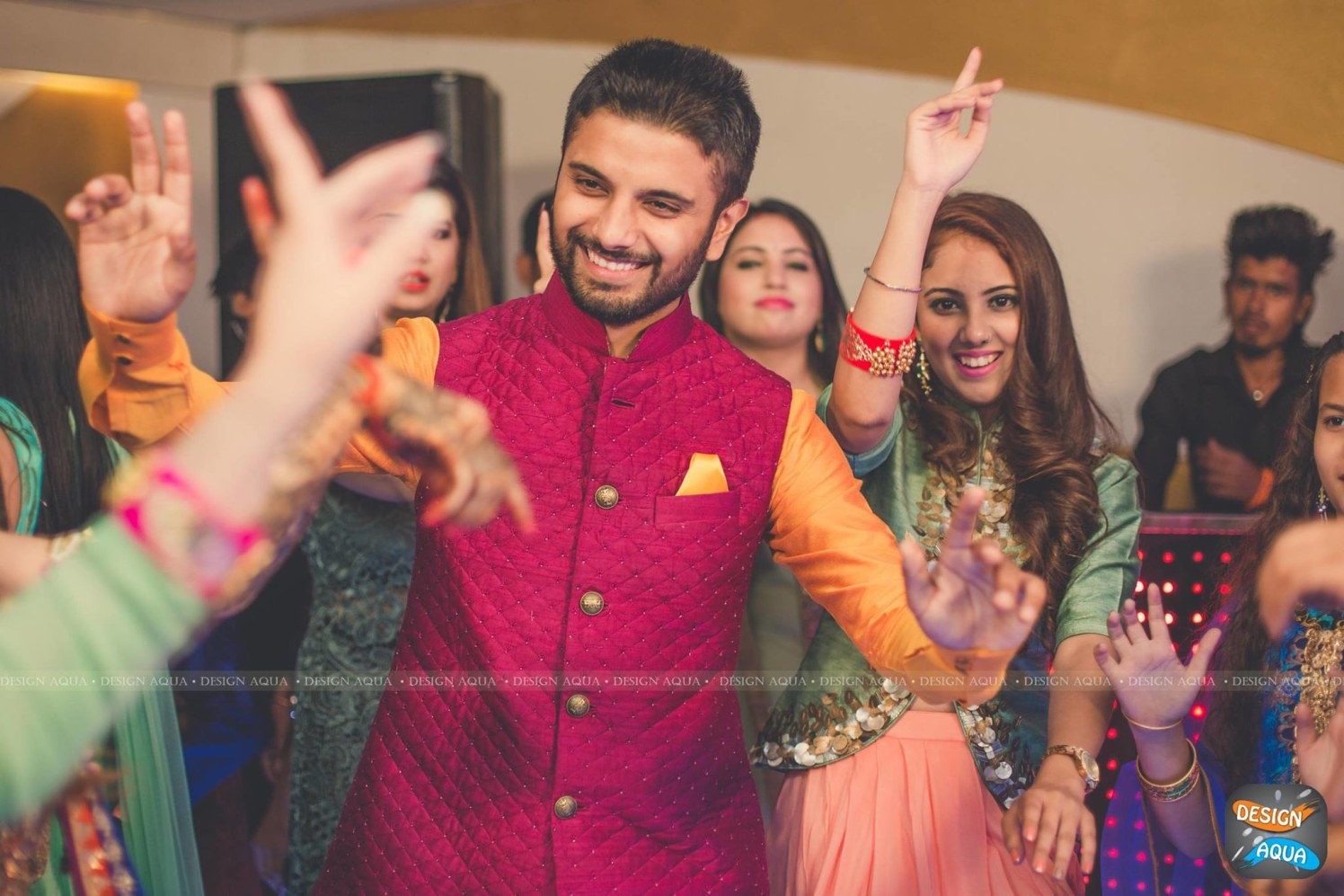 Crimson Red Waistcoat Worn By the Groom by Priyanka Kamboj Wedding-photography Groom-wear-and-accessories | Weddings Photos & Ideas