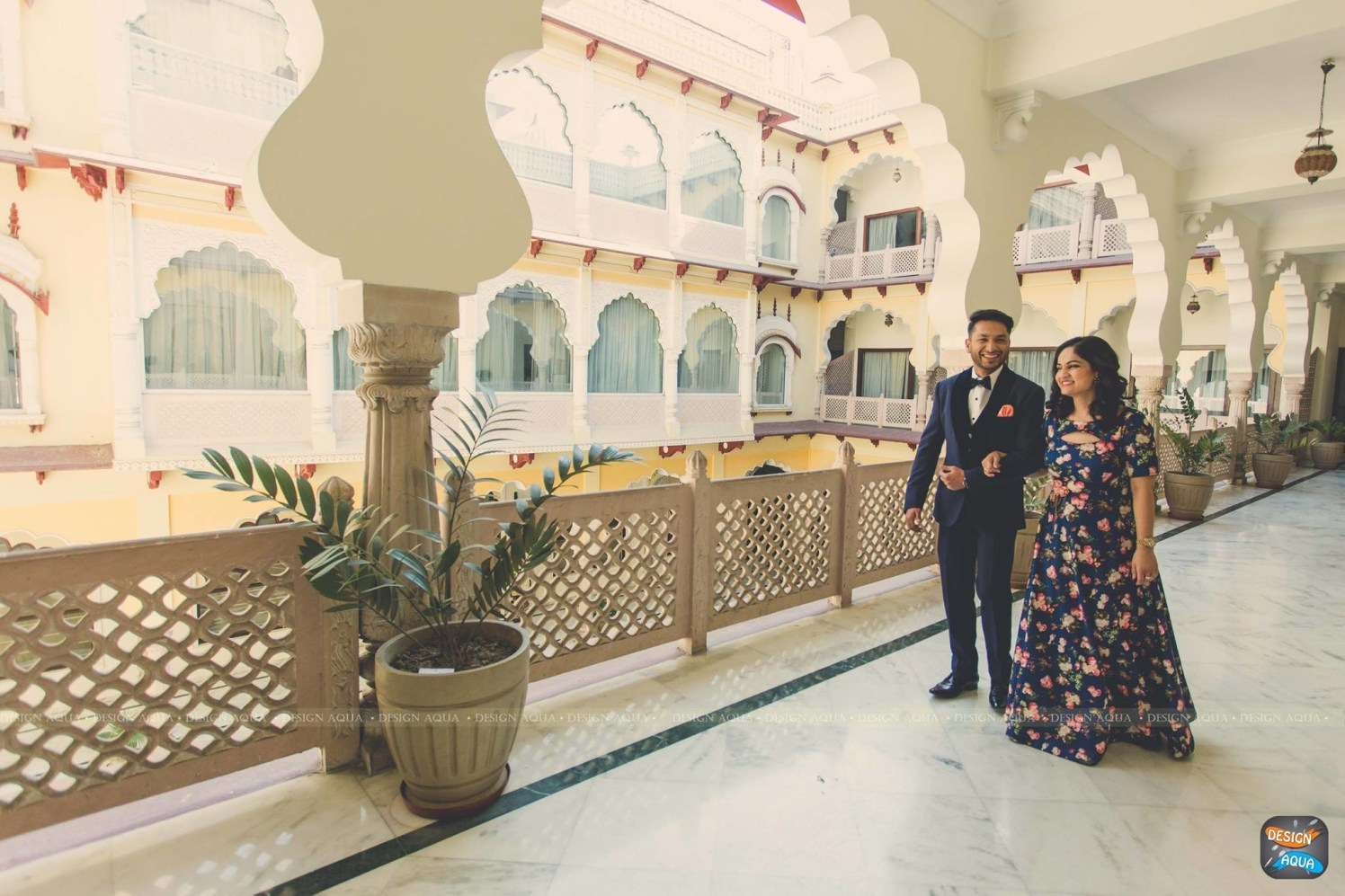 Royal Palacial Backdrop for Photoshoot of Bride and Groom To-Be by Priyanka Kamboj Wedding-photography Wedding-hairstyles Groom-wear-and-accessories Wedding-dresses | Weddings Photos & Ideas