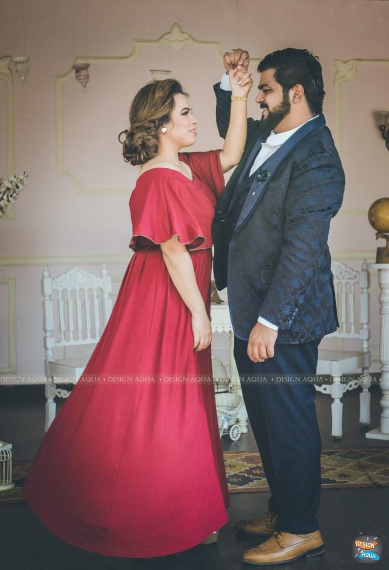 Elegant Capture of Waltz Move By Bride and Groom To-Be by Priyanka Kamboj Wedding-photography Wedding-hairstyles Groom-wear-and-accessories Wedding-dresses   Weddings Photos & Ideas