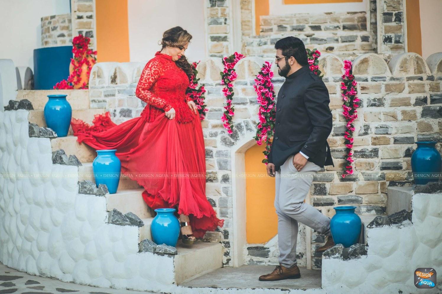 Ravishing Red Lehenga Worn By Bride To-Be by Priyanka Kamboj Wedding-photography Groom-wear-and-accessories Wedding-dresses | Weddings Photos & Ideas