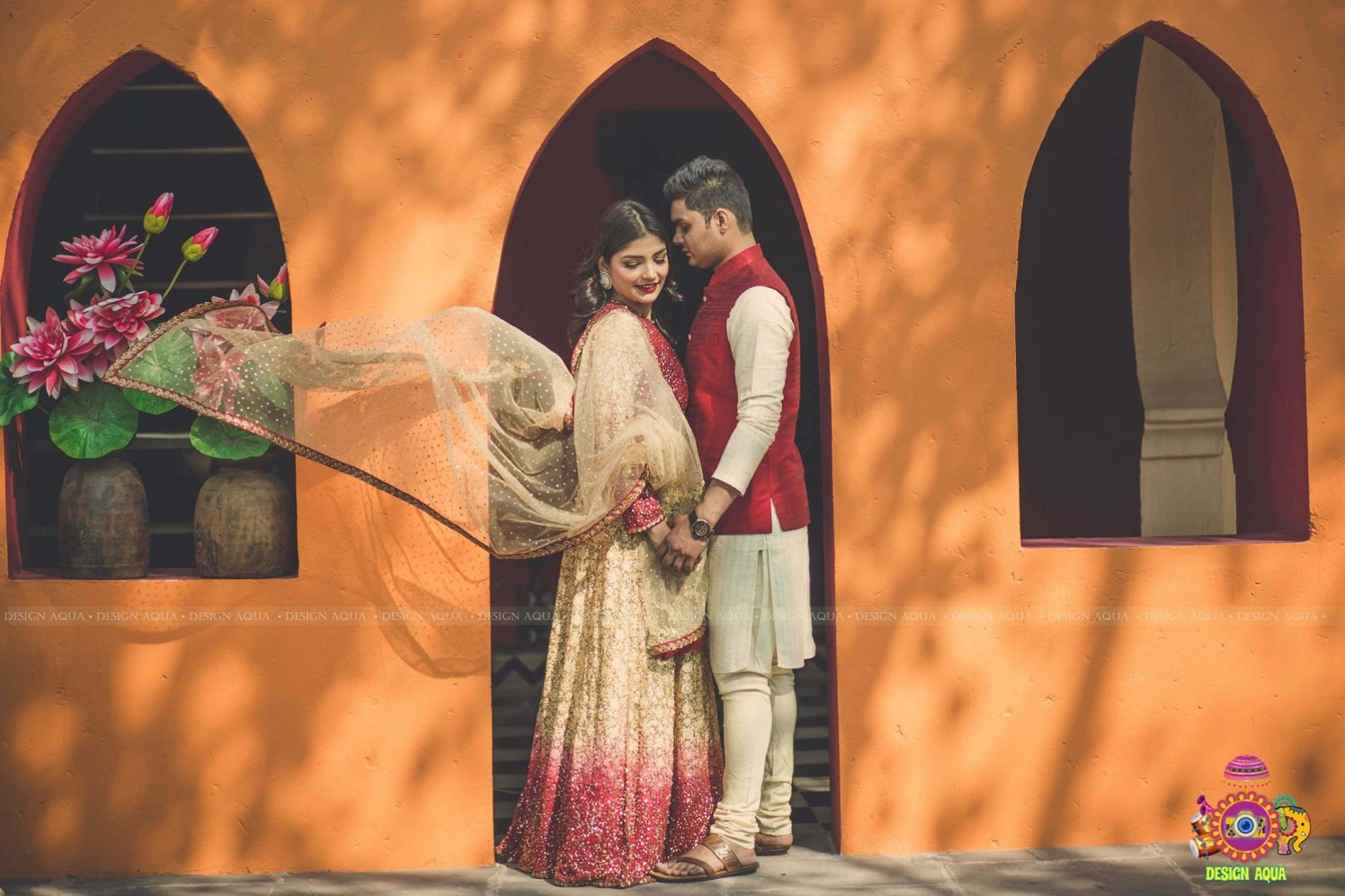 Romantic Vibes With Dupatta Flying in Air by Priyanka Kamboj Wedding-photography Groom-wear-and-accessories | Weddings Photos & Ideas