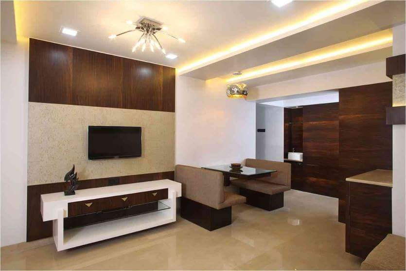 Spacious living area with marble flooring by Hemangi Chaudhari-pawar  Living-room Modern | Interior Design Photos & Ideas