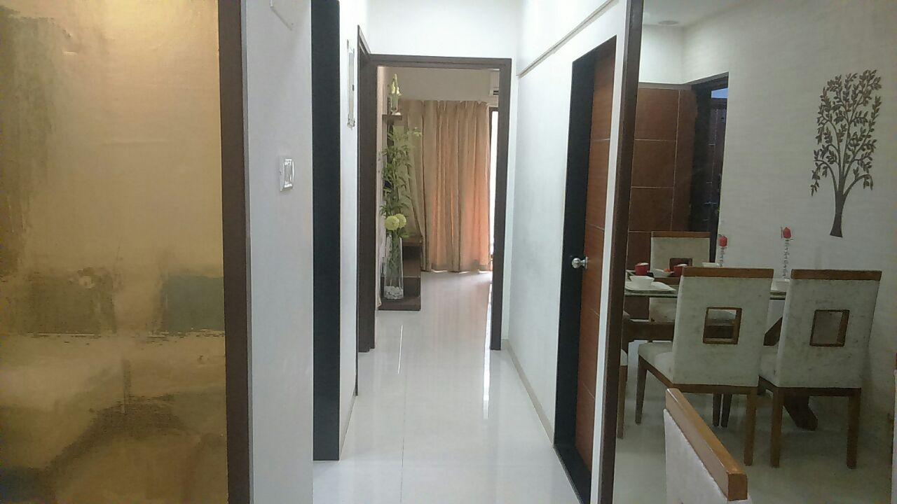 Hallway with marble flooring by Hemangi Chaudhari-pawar  Indoor-spaces Modern   Interior Design Photos & Ideas
