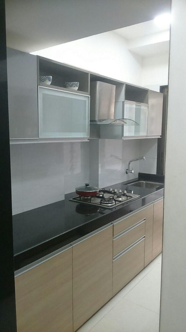 Kitchen with marble flooring and cabinets by Hemangi Chaudhari-pawar  Modular-kitchen Minimalistic | Interior Design Photos & Ideas