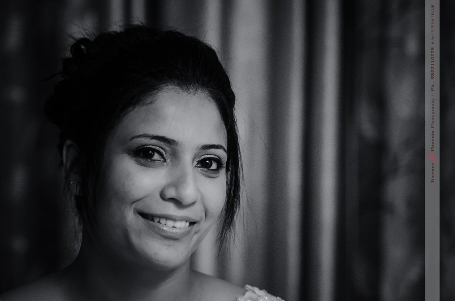 Black And White Shot Of Bride Highlighting Her Best Features by Terence Savio Pimenta Wedding-photography   Weddings Photos & Ideas