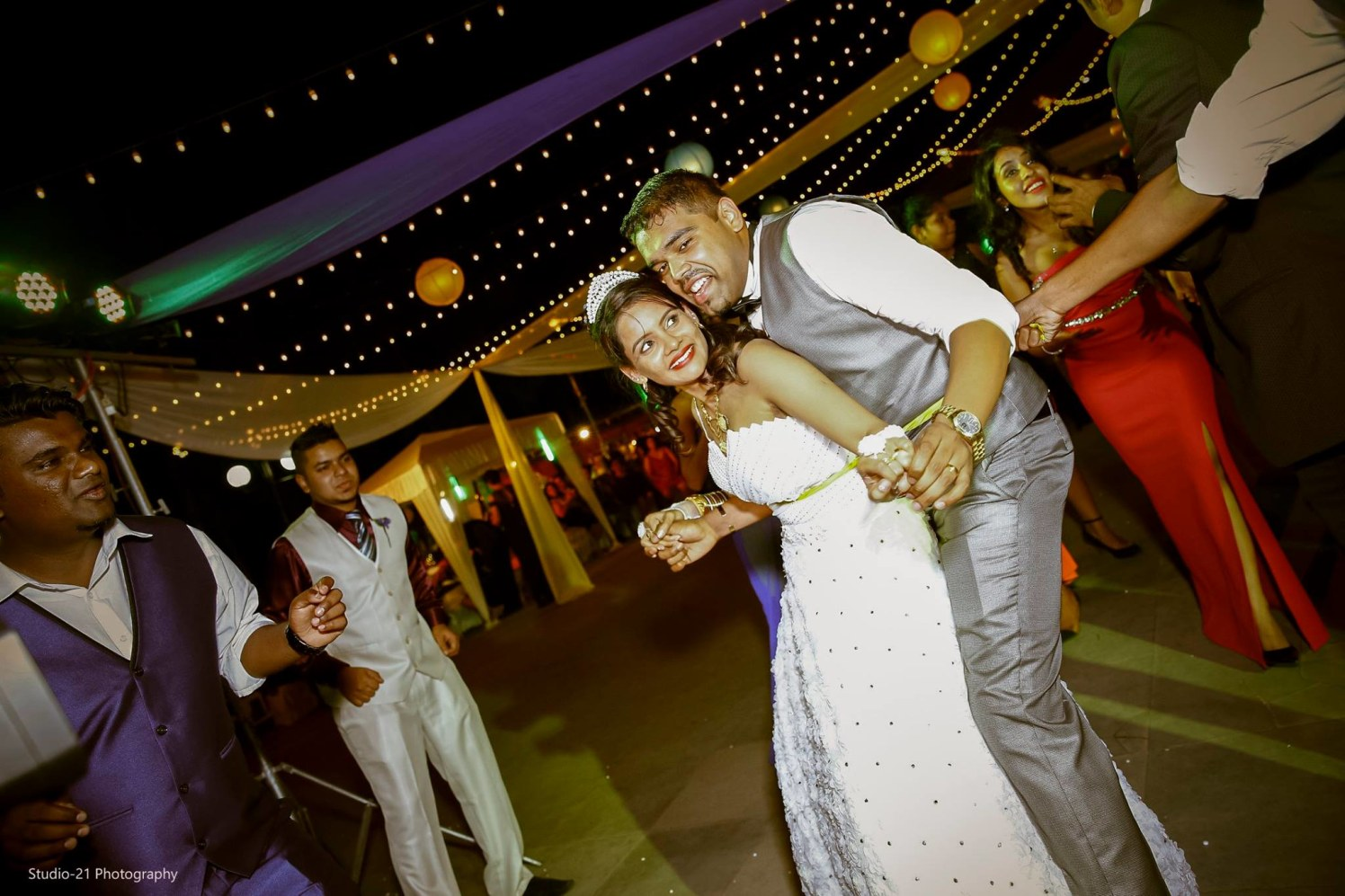 Candid Shot Of Scintillating Bridegroom Amidst Dancing On Floor by Terence Savio Pimenta Wedding-photography | Weddings Photos & Ideas