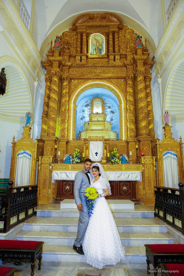 Traditional Shot Of  Conventional Christian Bridegroom In The Aesthetic Beauty Of Church by Terence Savio Pimenta Wedding-photography | Weddings Photos & Ideas