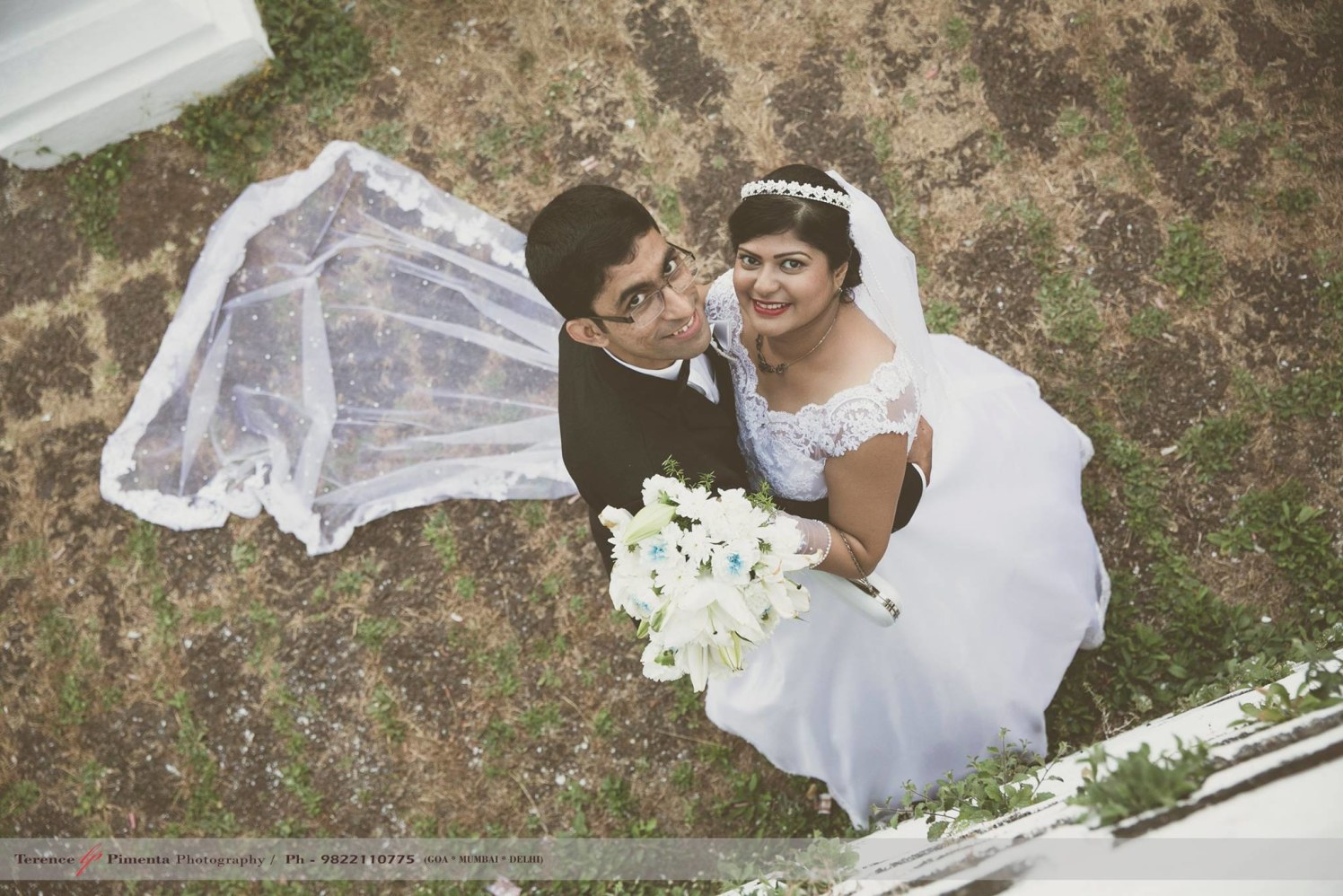 Aerial Shot Of Bubbly Bridegroom During Wedding Photoshoot by Terence Savio Pimenta Wedding-photography | Weddings Photos & Ideas