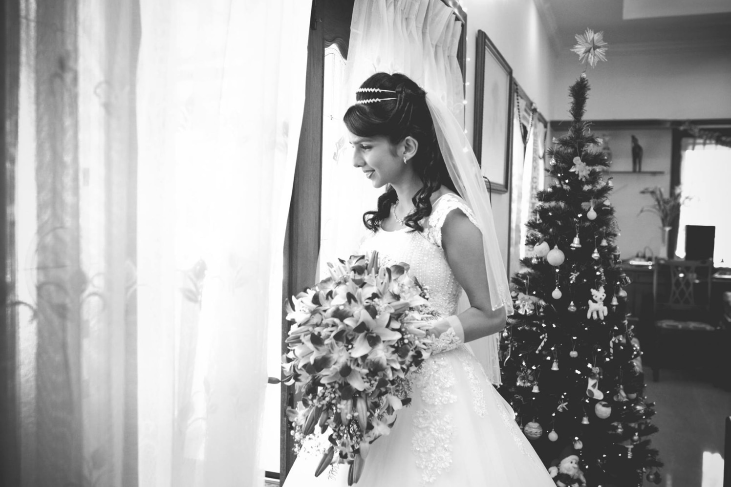 Black And White Zappy Glimpse Of Conventional Christian Bride by Terence Savio Pimenta Wedding-photography | Weddings Photos & Ideas