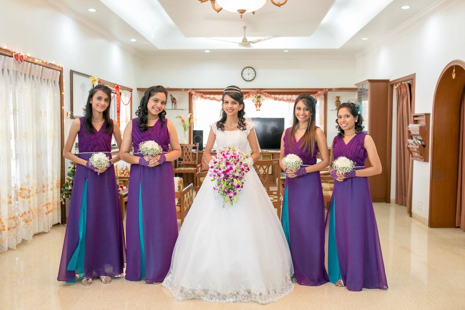 Traditional Shot Of Bride With Bridesmaids Glinting Brilliance by Terence Savio Pimenta Wedding-photography | Weddings Photos & Ideas