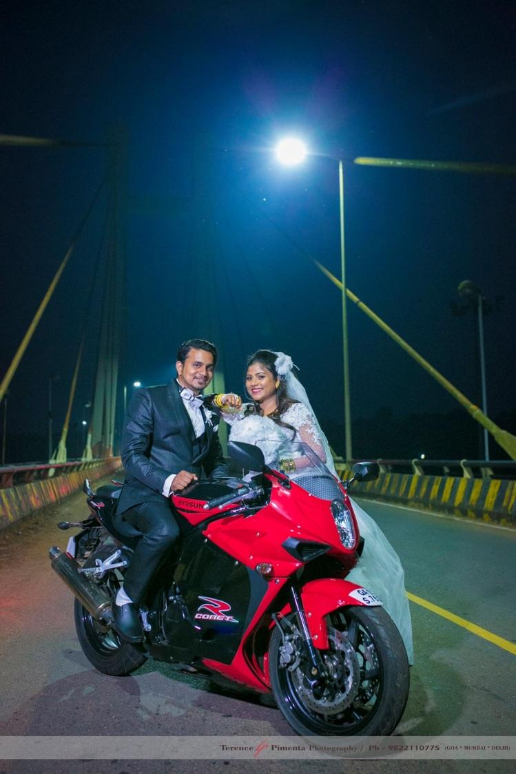 Mettlesome Couple Shoot On A Spots Bike by Terence Savio Pimenta Wedding-photography | Weddings Photos & Ideas