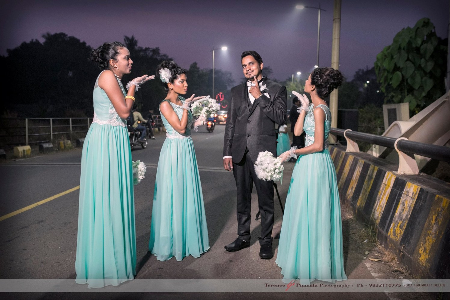 Fun Stylized Wedding Shoot Of Groom With Bridesmaids by Terence Savio Pimenta Wedding-photography | Weddings Photos & Ideas