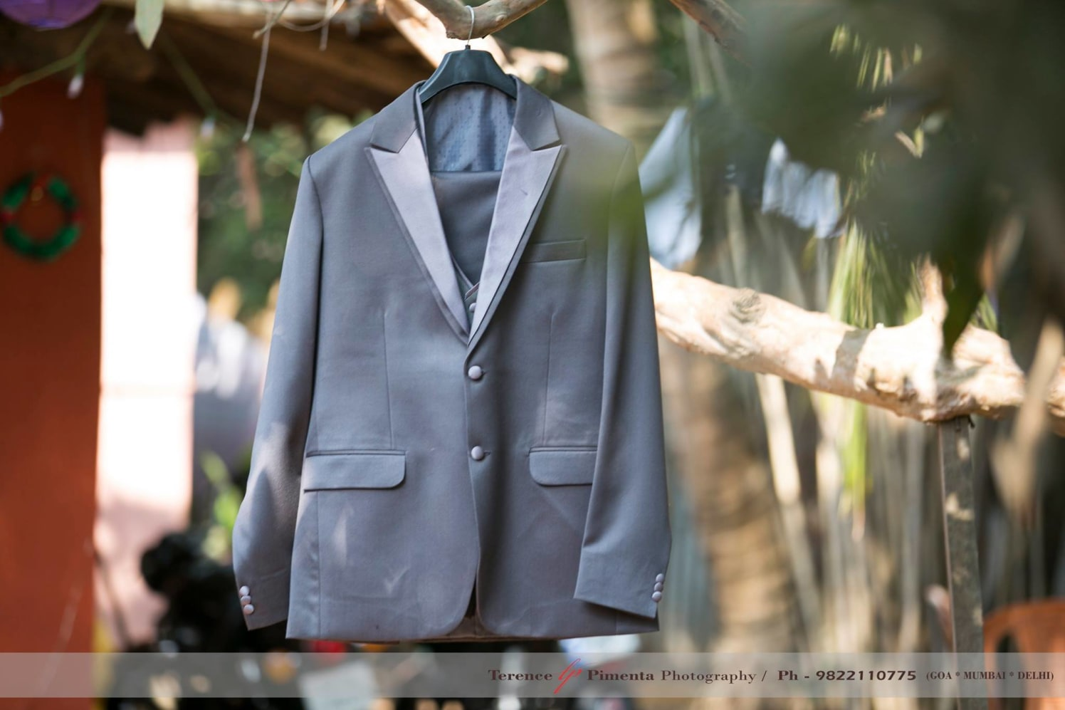 Two Button Notch Single Breasted Charcoal Suit by Terence Savio Pimenta Wedding-photography Groom-wear-and-accessories | Weddings Photos & Ideas