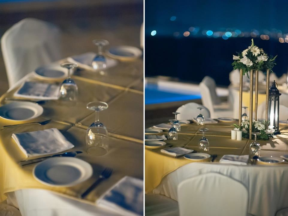 Sophisticated Dining Decor With Candle Lamps And Flower Stands by Navdeep Soni Wedding-decor | Weddings Photos & Ideas