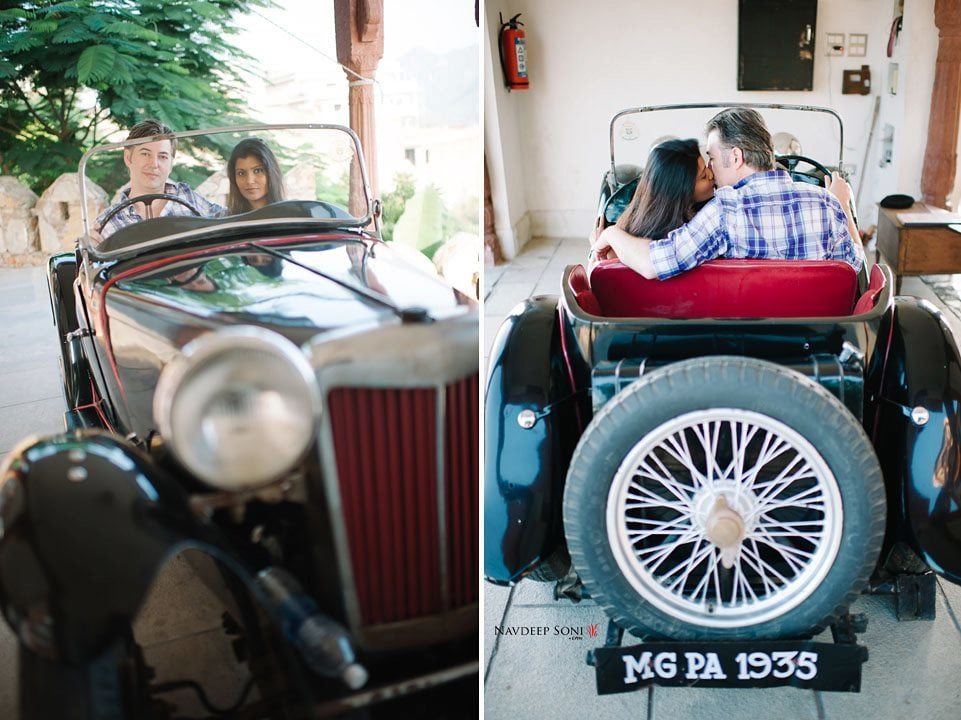 Stylized Pre Wedding Shoot Using A Vintage Prop by Navdeep Soni Wedding-photography | Weddings Photos & Ideas