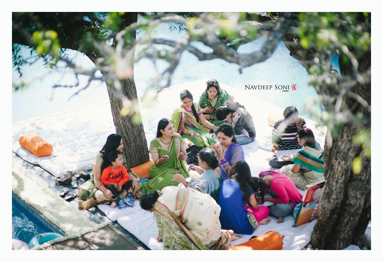 Ariel Shot Bride And Bridesmaids During Mehendi Ceremony by Navdeep Soni Wedding-photography | Weddings Photos & Ideas