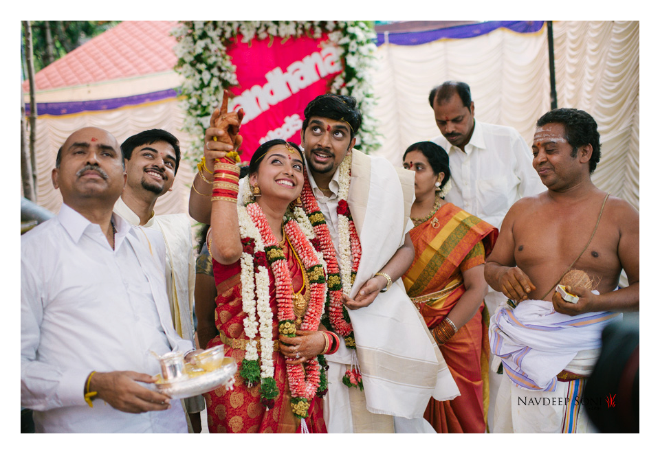 Candid Shot Of The Most Lovely South Indian Couple by Navdeep Soni Wedding-photography | Weddings Photos & Ideas