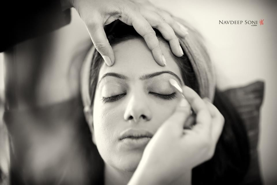 Bridal makeup in process by Navdeep Soni Photography Wedding-photography | Weddings Photos & Ideas