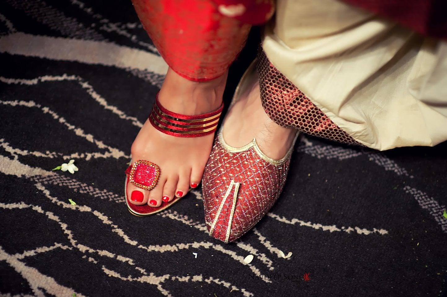 Bride and groom footwear by Navdeep Soni Photography Wedding-photography | Weddings Photos & Ideas