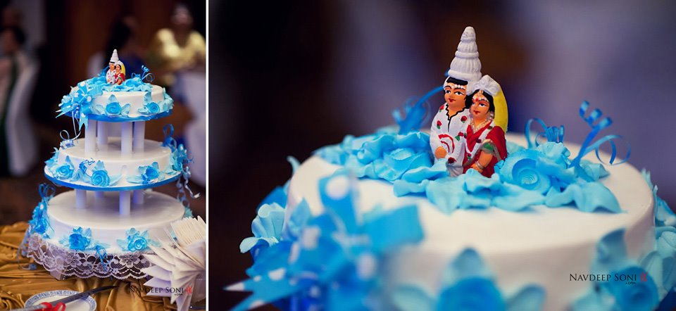 A Fancy Decorated Bengali Themed Wedding Cake by Navdeep Soni Wedding-photography | Weddings Photos & Ideas