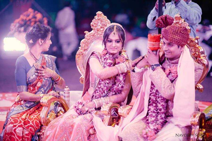 Candid Shot Of Bride And Groom's Lovely Moments On Their D-Day by Navdeep Soni Wedding-photography | Weddings Photos & Ideas