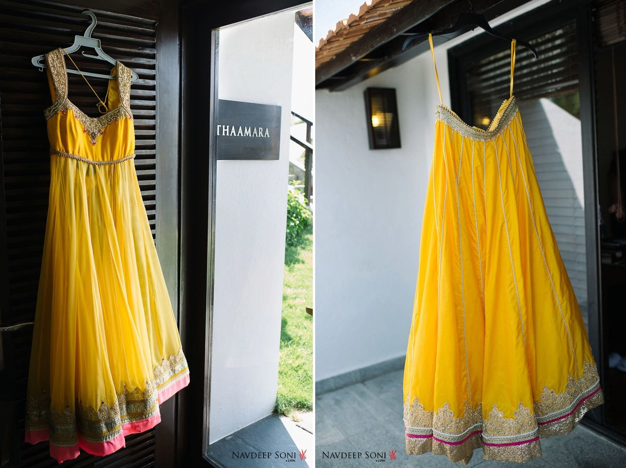 Yellow Sleeveless Anarkali Suit With Yellow Long Skirt by Navdeep Soni Wedding-dresses | Weddings Photos & Ideas