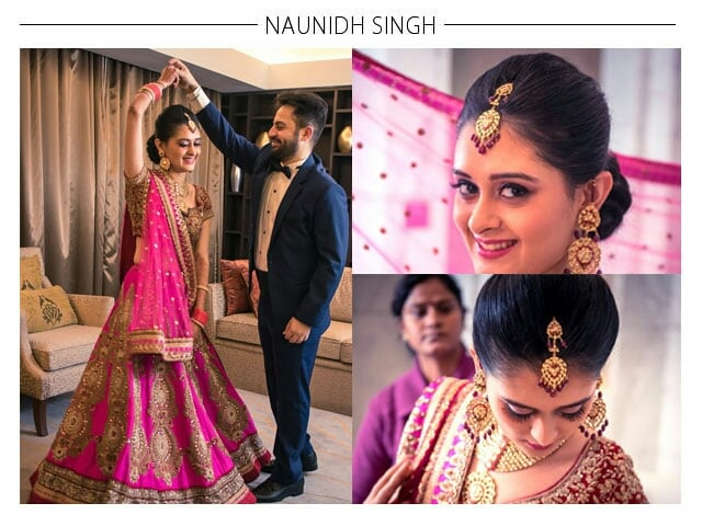 Pink Bridal Attire for her big day by Naunidh Singh  Bridal-makeup | Weddings Photos & Ideas