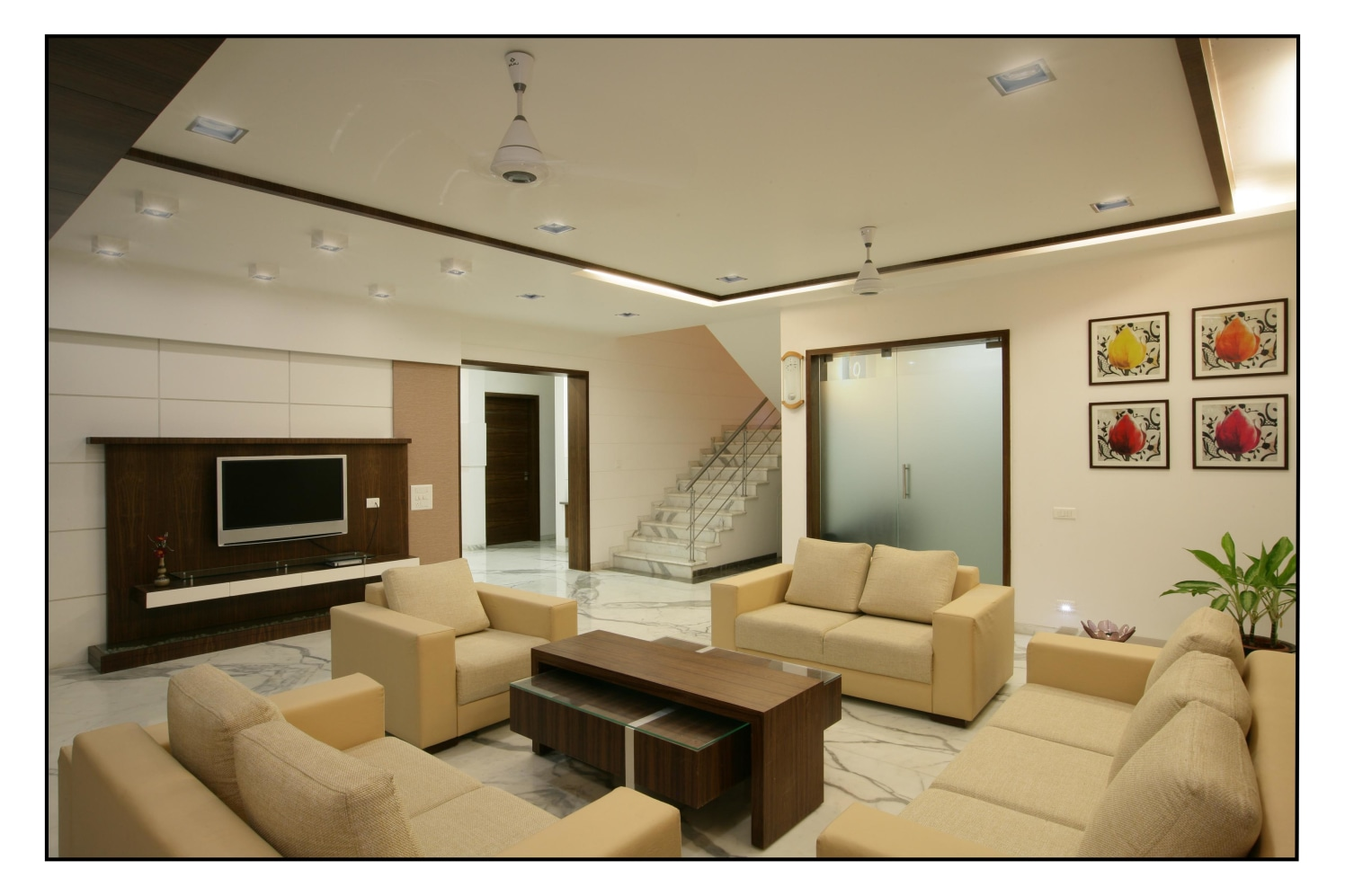 The Hues of Brown by RS Design Living-room Modern | Interior Design Photos & Ideas