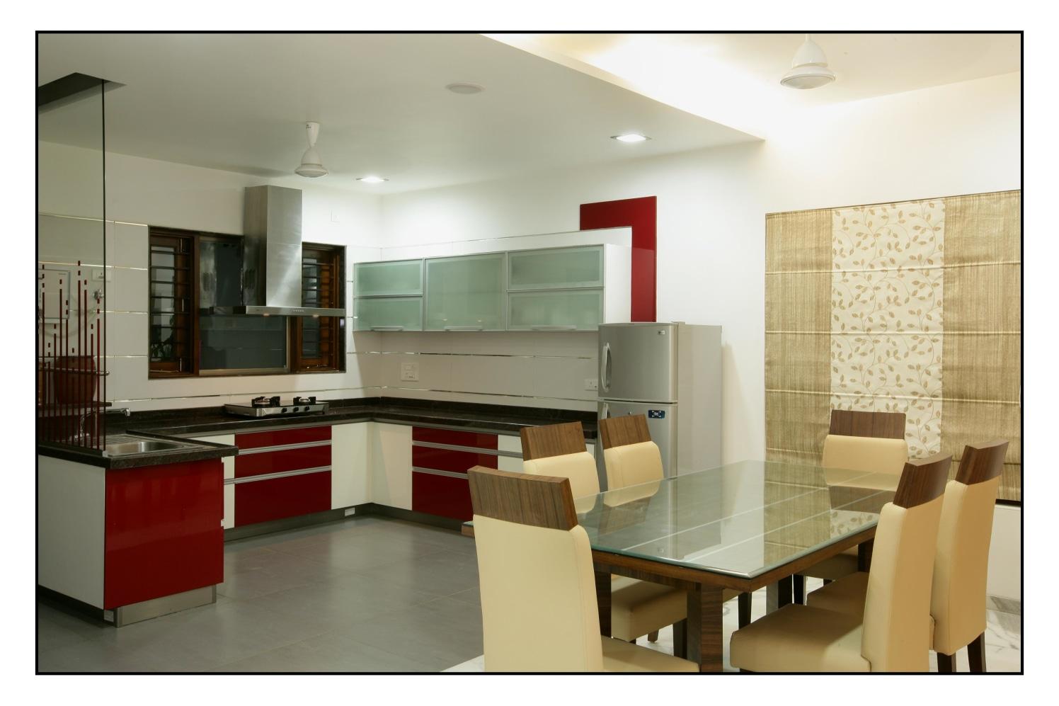 Go Deep with Red by RS Design Modular-kitchen Modern | Interior Design Photos & Ideas