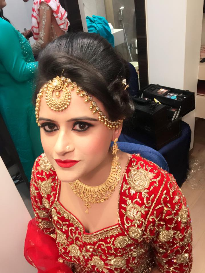 Bride in red by Bhumika Sajnani  Bridal-makeup | Weddings Photos & Ideas