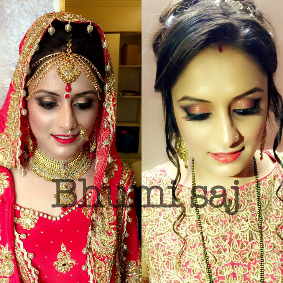 Two makeup looks for one bride by Bhumika Sajnani  Bridal-makeup | Weddings Photos & Ideas
