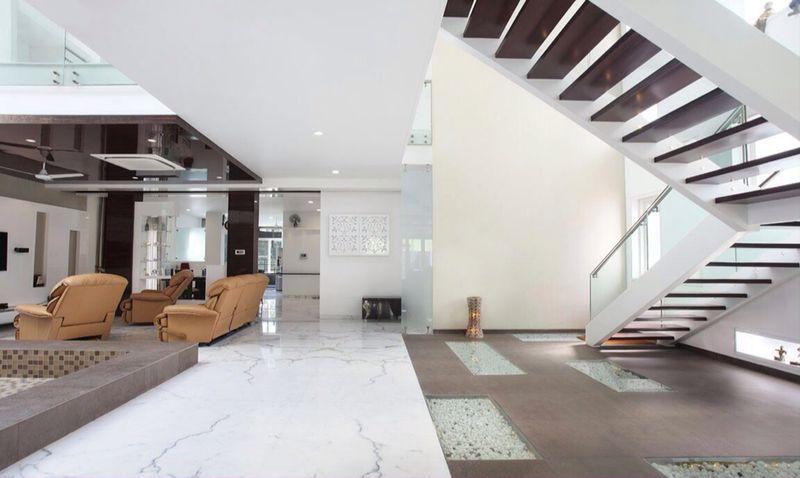 Modern Staircase by JMR Infrastructure Indoor-spaces Modern | Interior Design Photos & Ideas